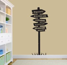 Harry Potter Signpost Road Sign Post by StolzDesignOnEtsy