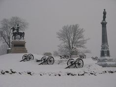 Winter in Gettysburg, PA.