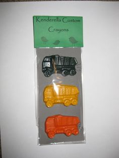 Dump truck crayons - have messaged seller and she can do them in pink/purple theme