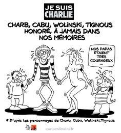 Je suis Charlie : hommage aux dessinateurs de Charlie Hebdo - 12 gennaio - JM:o - fr - §