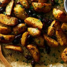 Lemon-Roasted Potatoes with Kalamatas