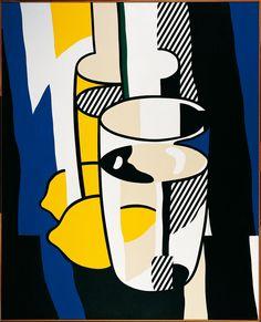 Roy Lichtenstein | Glas und Zitrone vor einem Spiegel - Glass and Lemon before a Mirror | 1974 | Albertina, Wien - Sammlung Batliner | © The Estate of Roy Lichtenstein | © VBK, Wien 2009 | Foto: © Fotostudio Heinz Preute, Vaduz