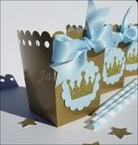 Our hand made baby blue and gold glitter crown popcorn favor boxes are perfect for a baby shower or his first birthday party. Add sparkle to your dessert table or fill with your own candy treats and g Baby Shower Azul, Baby Shower Favors, Baby Shower Parties, Baby Shower Themes, Baby Boy Shower, Baby Shower Gifts, Shower Ideas, Baby First Birthday, First Birthday Parties