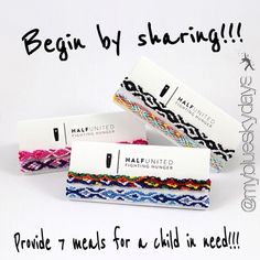 HalfUnited Friendship Bracelets Adorable bracelets...but one get two...share with your best friend, your daughter, your mom...friendship never goes out of style! I kept one for me and sent the other to buy my best friend...,together we provided 7 meals for a child in need for 12$!! Doesn't get any better or easier!! And it's adjustable! A cause very close to my heart!!! If you'd like to purchase, leave a comment and I'll make you a listing showing your support!!✌️☀️ Half United Jewelry…