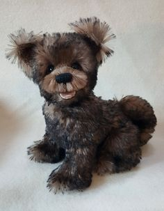 "Theodor Pawsevelt  Mohair dog with hand sculpted  teeth and tongue. He is jointed in the neck. ""One of a kind""   bearlycollectibles@hotmail.com"