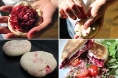 beetroot breads Beetroot and feta flatbreads
