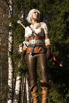 The Witcher 3, Ciri by AmazingRogue Cirilla Fiona Elen Riannon female ranger fighter rogue thief assassin cosplay costume LARP LRP armor clothes clothing fashion player character npc | Create your own roleplaying game material w/ RPG Bard: www.rpgbard.com | Writing inspiration for Dungeons and Dragons DND D&D Pathfinder PFRPG Warhammer 40k Star Wars Shadowrun Call of Cthulhu Lord of the Rings LoTR + d20 fantasy science fiction scifi horror design | Not Trusty Sword art: click artwork for…
