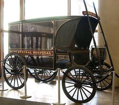 Ambulance c. 1888, on display at MGH LOL I can't wait to show this to Danny!