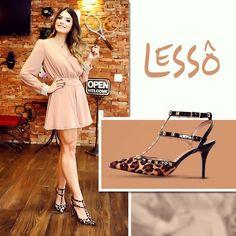 """{Leopard Print} In ❤️ pela coleção da marca Mezzo Punto @lessosapatos Um dos meus favoritos, para dar """"aquele up"""" sapato de onça, claro!"""