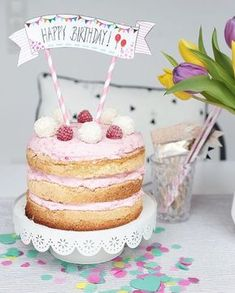 Birthday Cake ~ Himbeer-Kokostorte Naked Cake Kokostorte Himbeeren GeburtstagHappy Birthday Happy Birthday may refer to: Food Cakes, Beautiful Cakes, Amazing Cakes, Raspberry And Coconut Cake, Nake Cake, Diy Cake Topper, Happy Birthday Cakes, Cake Birthday, Niece Birthday