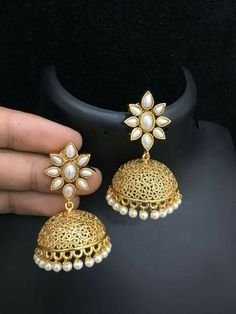 Sale On Gold Jewellery Indian Gold Jewellery Design, Fancy Jewellery, Stylish Jewelry, Indian Jewelry, Gold Jewelry, Jewelry Box, Jewelry Design, Gold Earrings, Drop Earrings