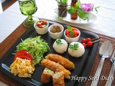 イメージ 1 A Food, Good Food, Food And Drink, Yummy Food, Breakfast Appetizers, Japanese Menu, Plate Lunch, Asian Recipes, Ethnic Recipes