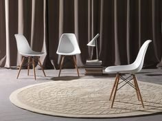 SET 4 SEDIE DESIGN BIANCHE cucina soggiorno bianco legno eleganti art.sg1498 | eBay