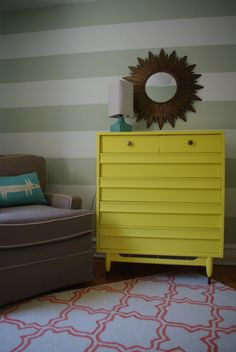 Project Nursery - Woodland Striped Nursery Yellow Changer