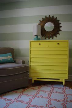 Project Nursery - Woodland Striped Nursery Yellow Changer