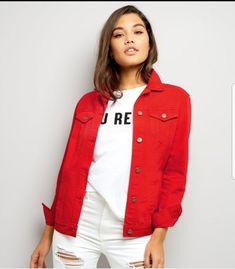 2961b359c3f 12 Best Red Denim Jacket images
