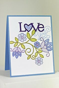 Love You Card by Erin Lincoln for Papertrey Ink (December 2013)