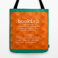 Bookish Tote Bag for book lovers gifts for readers by BonnieBruno