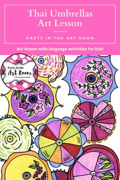 Art Lesson: Thai Umbrellas | Art Project for Kids with Writing Activities  Engaging art lesson with language (writing) activities. These no-prep art projects are perfect for your art sub tub. Super easy to implement for substitute teachers. Plus, the engagement will help with behavior! Perfect to start your art integration activities or to use as mini-lessons in larger units. Use as writing prompts and center printables. Great for homeschooling, language arts teachers, and art teachers…