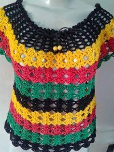 Crochet Jacket, Crochet Blouse, Crochet Motif, Crochet Yarn, Crochet Stitches, Crochet Bikini, Knit Crochet, Crochet Patterns, Crochet T Shirts