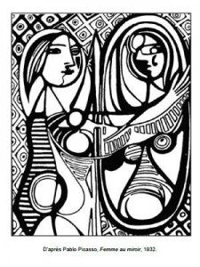 Free printable difficult grown-up coloring pages Picasso, Creative leisure activities, Beautiful drawings Girl Before a Mirror, Drawing Picasso Girl Before a Mirror 2 Pablo Picasso, Picasso Kids, Colouring Pages, Printable Coloring Pages, Coloring Books, Kids Colouring, Pokemon Coloring Pages, Red Food Coloring, Cartoon Coloring Pages
