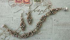 Linda's Crafty Inspirations: Bracelet of the Day: Elinor Bracelet - Blue Haze & Pewter 6/5/15