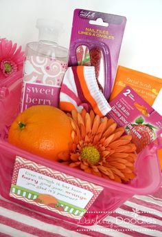 Berries and Orange Gift Basket for the End of the School Year