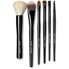 Bobbi Brown Classic Brush Collection ($195) ❤ liked on Polyvore featuring beauty products, makeup, makeup tools, makeup brushes, foundation brush, makeup blending brush, shadow brush, gel eyeliner and eyeshadow brushes