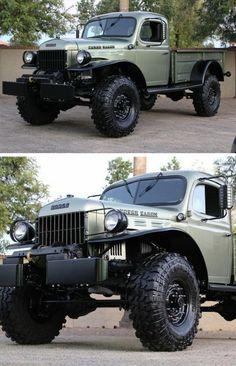 Super Pick Up Truck Dodge Power Wagon Ideas Old Dodge Trucks, Vintage Pickup Trucks, Classic Pickup Trucks, Big Trucks, Dodge Pickup, Dodge Cummins, Ford Trucks, Dodge Power Wagon, Offroader