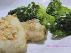 Cod cu ghimbir și susan Diets, Broccoli, Vegetables, Health, Food, Health Care, Essen, Fitness Foods, Vegetable Recipes