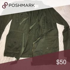 Bar III green cargo jacket Bar III green cargo jacket, brand new Bar III Jackets & Coats Utility Jackets