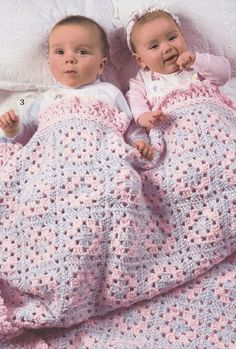 X993 Crochet Pattern : Baby Afghan Crochet Patterns - Curly Cuties - 6 Designs ...