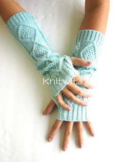 Dyed Knitted Arm Warmers-Mint Fingerless Knit Gloves- Tie Dye Gloves- Womens Gloves by knitwit321 on Etsy https://www.etsy.com/listing/201957863/dyed-knitted-arm-warmers-mint-fingerless