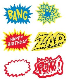 Great printables for super hero party. by MaryAnnK