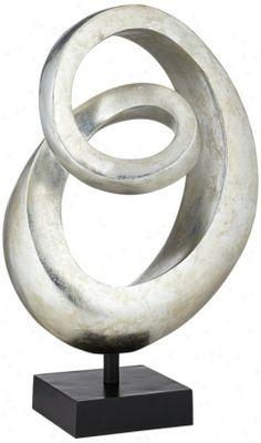 sphere sculptures images   Silverleaf Spiral Sculpture (v2688) .