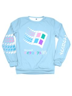 Candy 95 Sweatshirt (1 of 50) - Public Space xyz - vaporwave aesthetic clothing fashion, kawaii, pastel, pastelgrunge, pastelwave, palewave