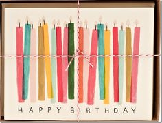 Buy blank cards and paint your own birthday cards for friends