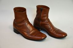 Vintage 60s 70s Dack's Brown Chelsea Boots  Retro by Day17Vintage