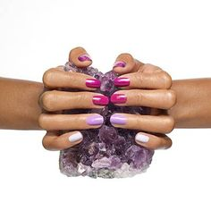amped up amethyst by essie - get ready to rock with an array of pleasing purple and pink hues.