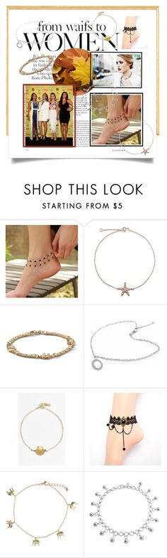 """""""Anklet"""" by lataarv ❤ liked on Polyvore featuring beauty, NOVICA, Bling Jewelry, Palm Beach Jewelry, ki-ele and Monsoon"""