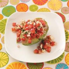 Tomato Salad-Stuffed Avocados Recipe from Taste of Home -- shared by Charmie Fisher, Fontana, California