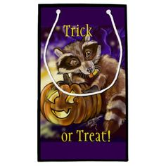 Little Bandit Trick or Treat Small Gift Bag - Halloween happyhalloween festival party holiday