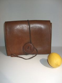 french vintage clutch  leather VICTOIRE by lesclodettes on Etsy, $55.00