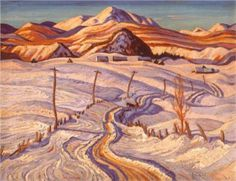 Winter Morning, Charlevoix County - A. Jackson - Group of Seven Painter Group Of Seven Artists, Group Of Seven Paintings, Tom Thomson, Winter Landscape, Landscape Art, Landscape Paintings, Emily Carr, Canadian Painters, Canadian Artists