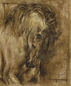 The Romance Of Art Horse Print By Paula Collewijn -  The Art Of Horses
