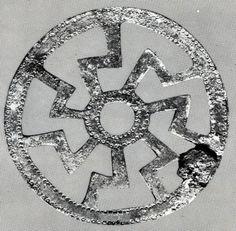 Alemannische Zierscheibe aus Bronze / Alemannic ornamental disc, 7th century