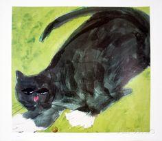 Evening Cat  von Walasse Ting  gefunden bei AllPosters.de