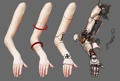 How to draw cybernetic arms [x-post /r/restofthefuckingowl] : Cyberpunk