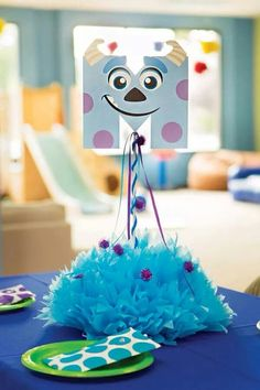 Incredible Monsters University Birthday Extravaganza // Hostess with the Mostess® Monster Inc Party, Monster University Party, Monster 1st Birthdays, Monster Birthday Parties, First Birthday Parties, Birthday Ideas, Halloween Party Themes, Diy Halloween Decorations, Easy Halloween