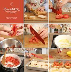 Sabe preparar uma bruschetta? Aprenda! (Foto: Karen Hofstetter / Divulgação). É ótima para receber visitas inesperadas. Bruschetta de tomate com manjericão
